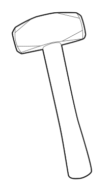 Drawing hammer. Sledgehammer wikipedia drilling hammeredit