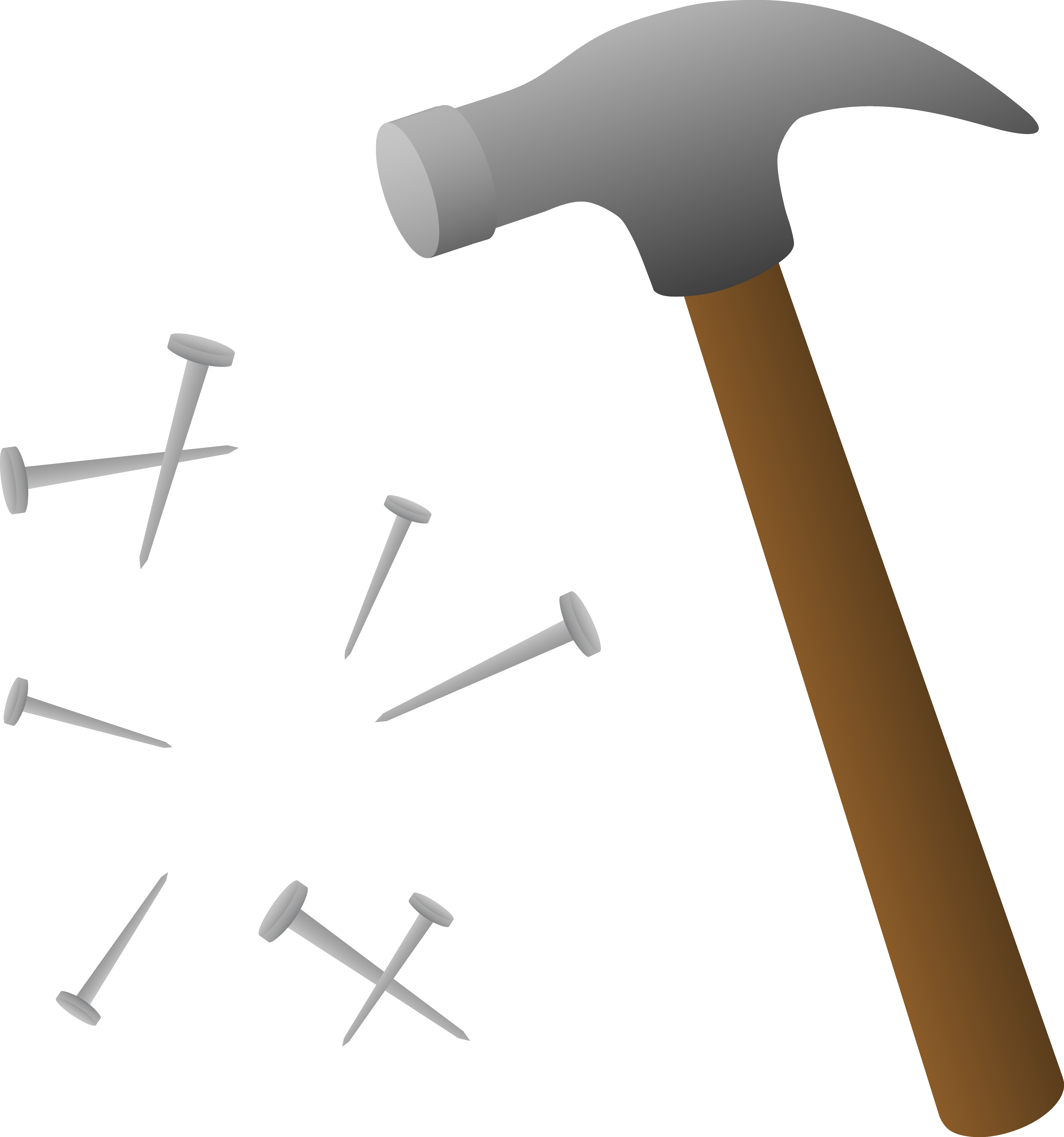 Nail clipart small hammer. Clip art and tacks