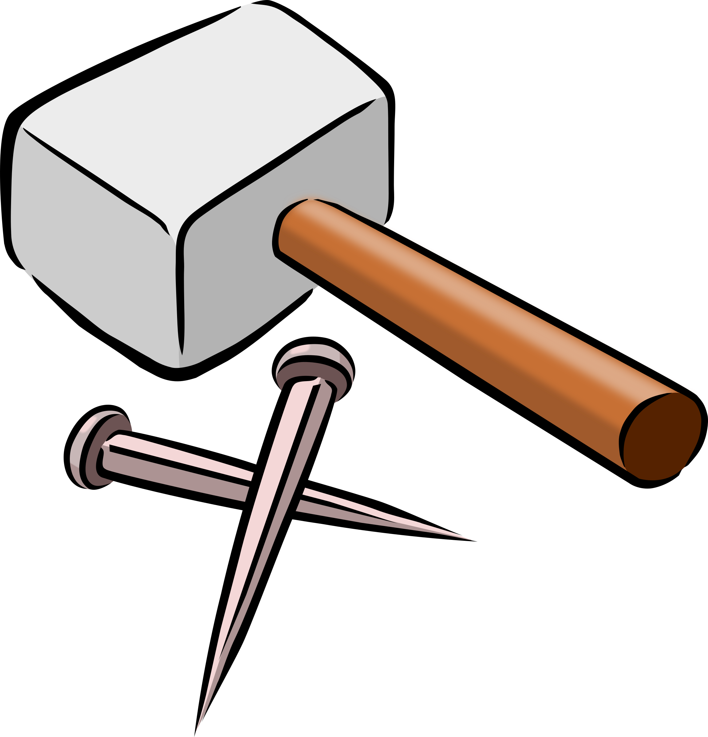 Nail clipart small hammer. And nails big image
