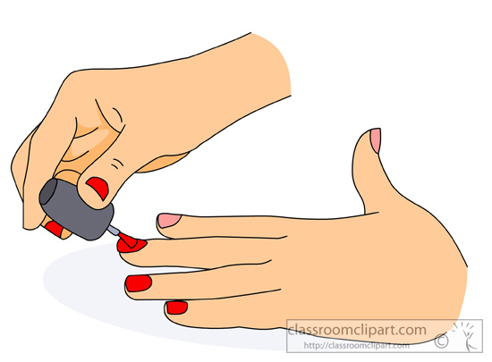 Nails clipart. Painting