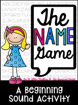 Name clipart name game. The a beginning sounds