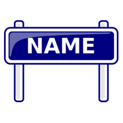 Name clipart transparent. Sign md png roblox
