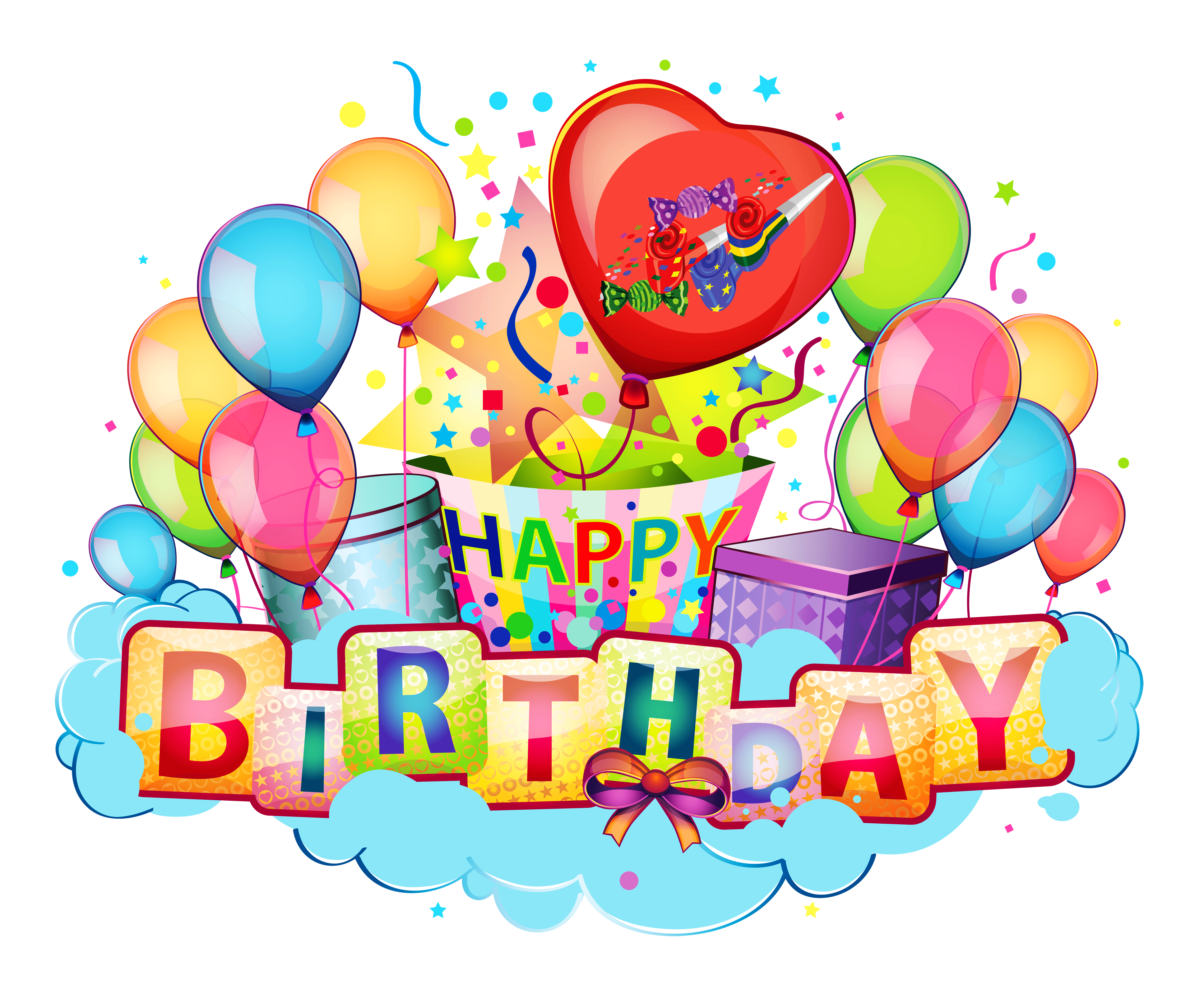 Name clipart transparent. Happy birthday decor picture