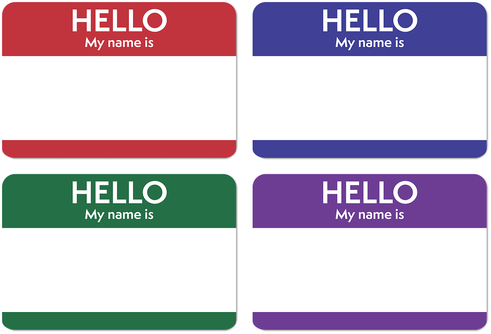 Name sticker png. Asl sign mt a