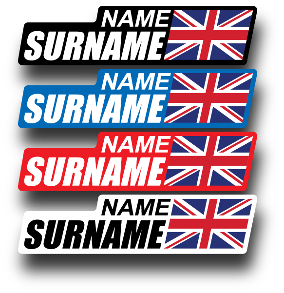 Name sticker png. Bike tag stickers with