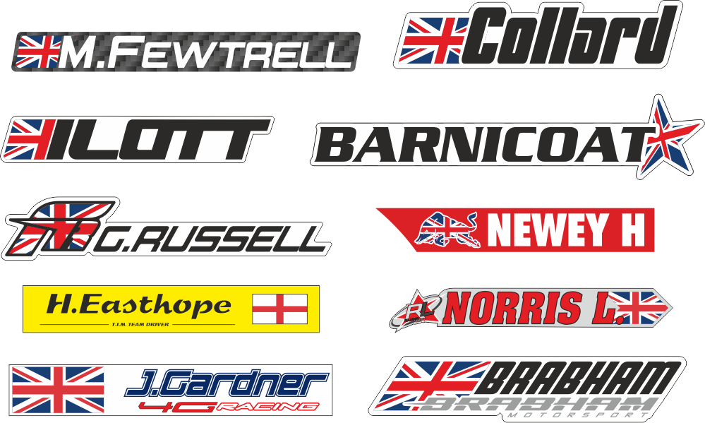 Name sticker png. Accessories driver flag stickers