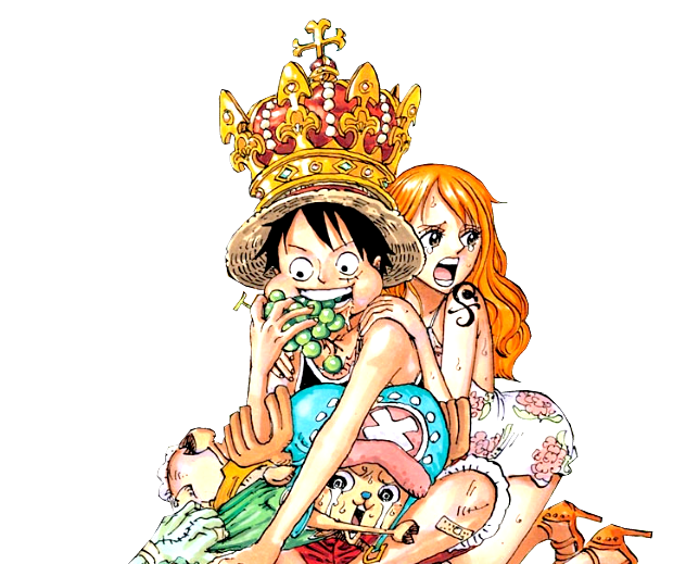 nami transparent luffy
