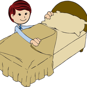 Nap clipart comfortable bed. The little girl making