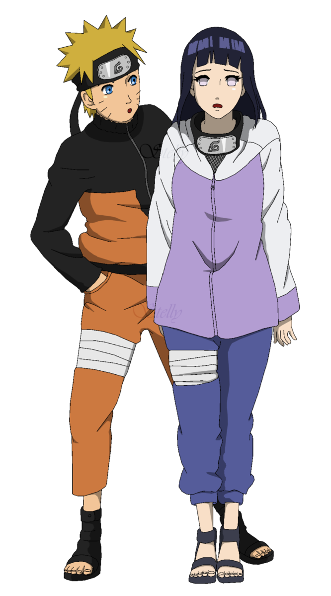 Naruto and hinata png. E lineart colored by