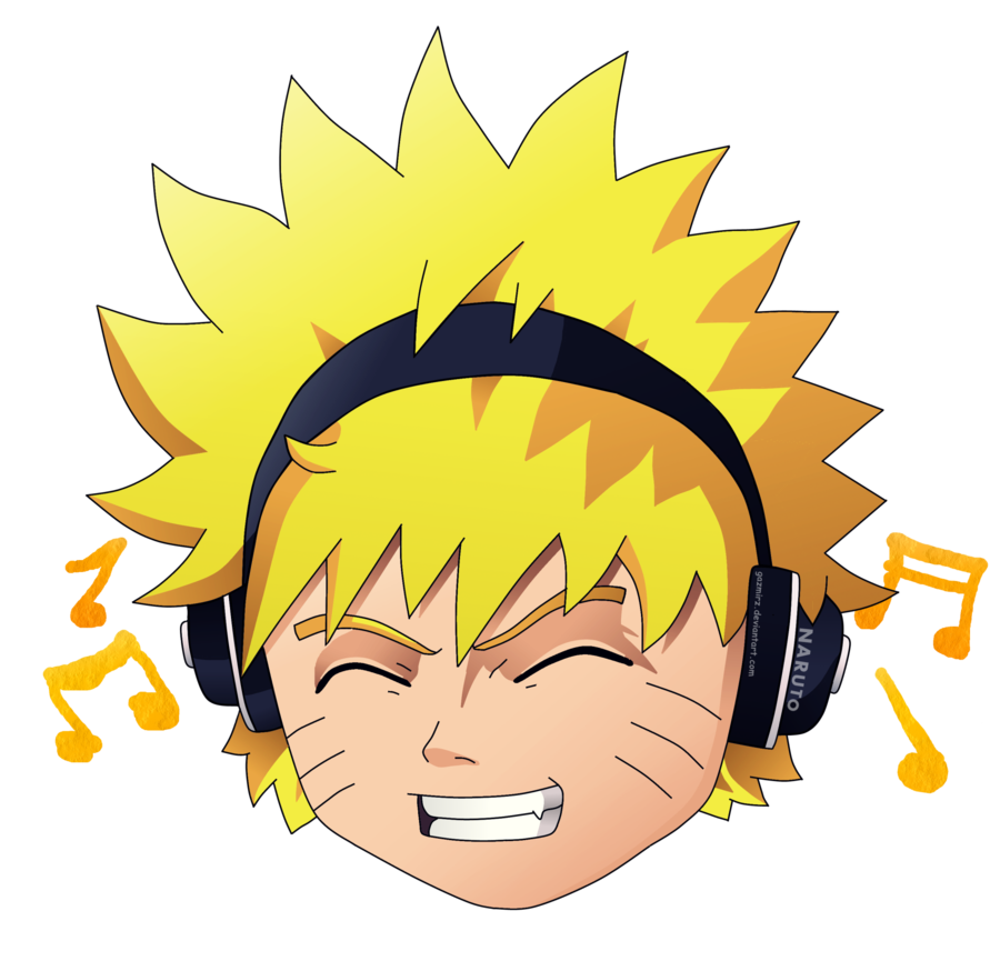 Naruto head png. Loves music by gazmirz