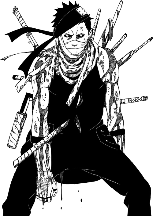 Naruto manga png. Death blood black and