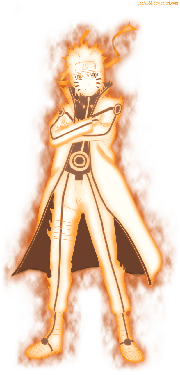 Naruto nine tails png. Chakra mode by dattexx