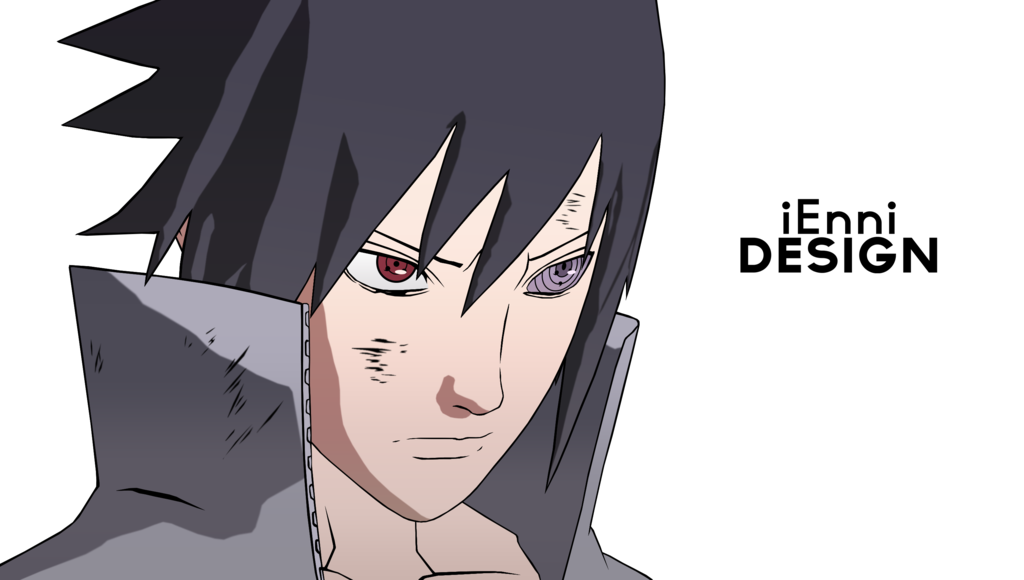 drawing sasuke head
