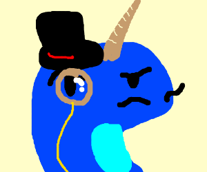 Narwhal clipart dapper. Drawing by dragonfoxdrawing