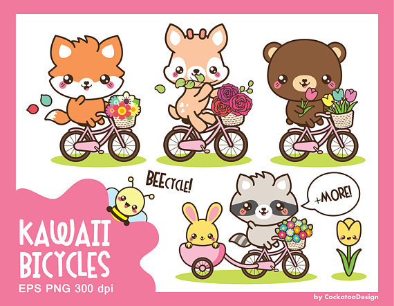 Narwhal clipart pink kawaii. Woodland animals cute off