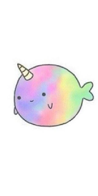 Narwhal clipart pink kawaii. Best images on