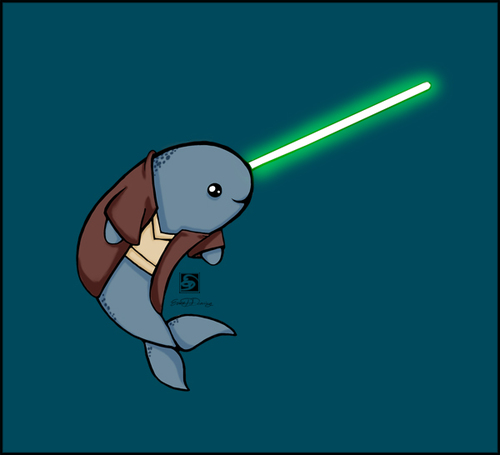 Narwhal clipart star wars. Jedi uploaded by viic