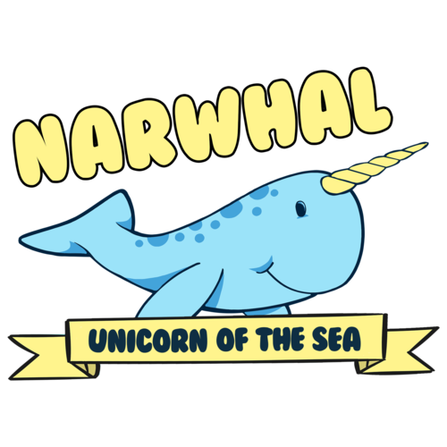 Narwhal clipart star wars. Unicorn of the sea