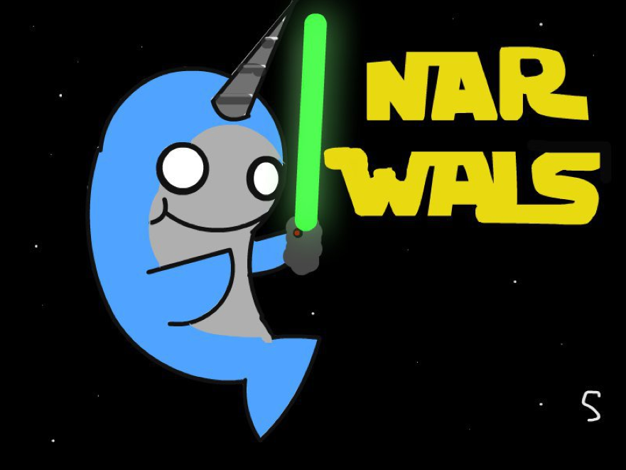 Narwhal clipart star wars. Pin by gracie crooks