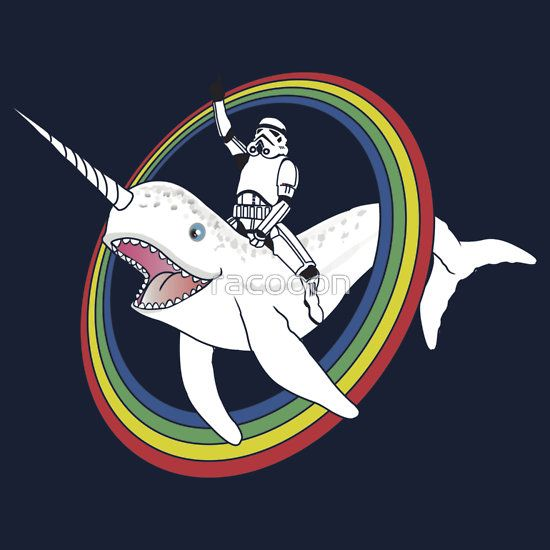 Narwhal clipart star wars. Available as t shirts