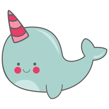 narwhal svg baby