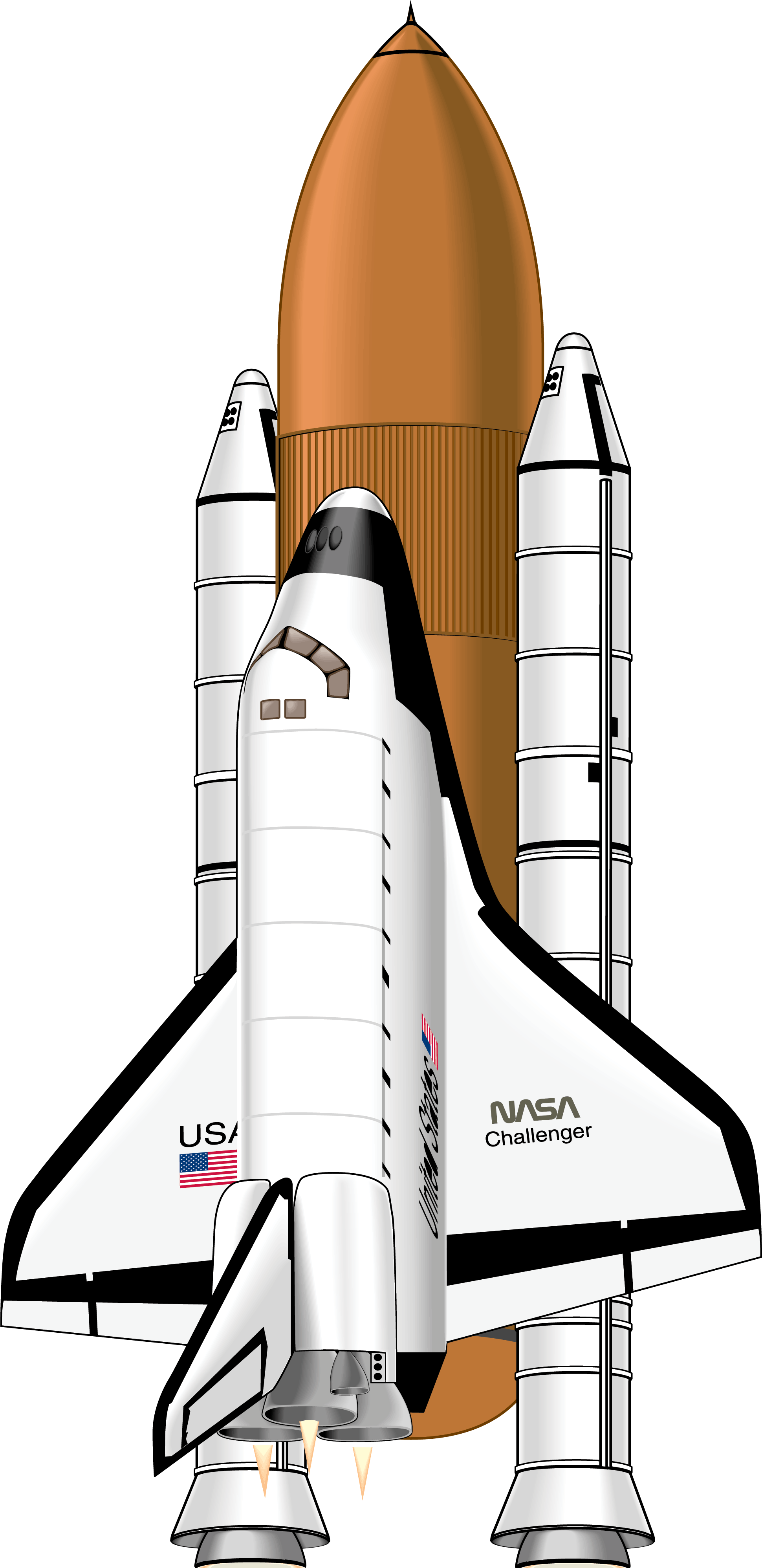 Nasa rocket png. File shuttle wikimedia commons