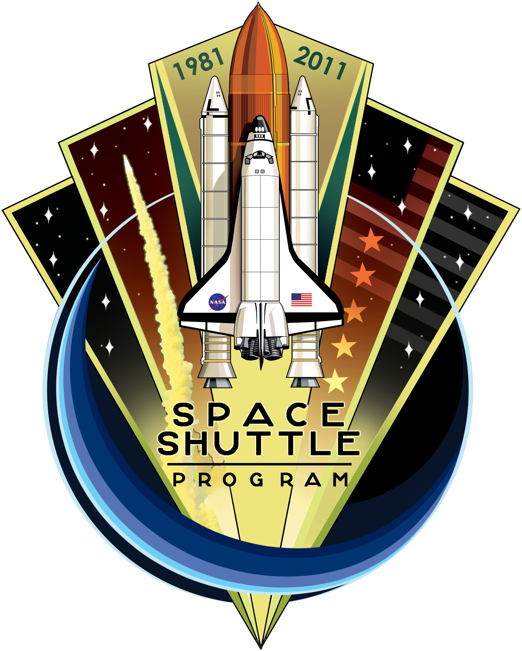 Nasa space shuttle png. File program commemorative patch