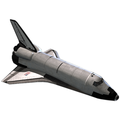 Spaceship transparent png. Space shuttle top view
