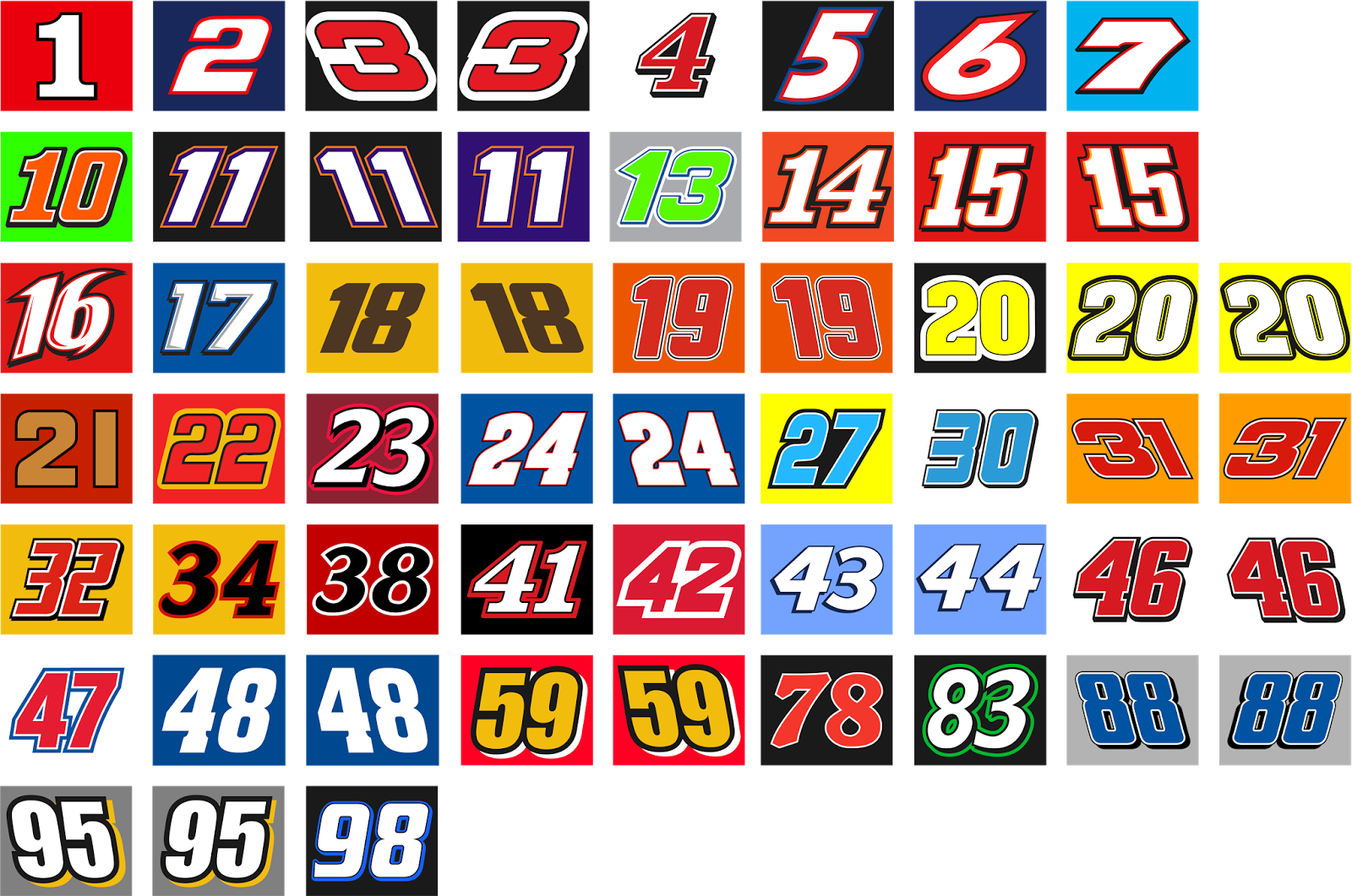 Nascar numbers png. Sprint cup concepts chris