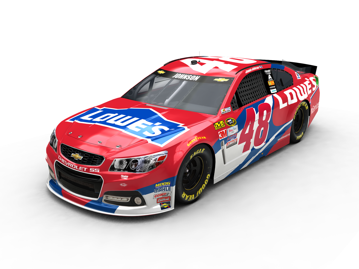 Nascar vector 2016 chevy ss. Johnson s lowe red