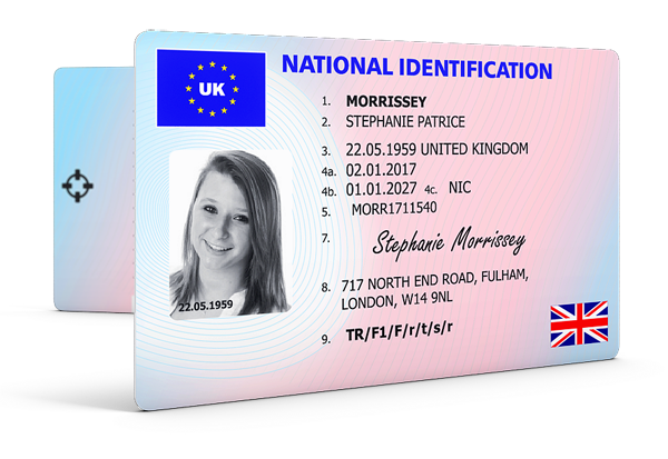 National identification card png. Fake id uk the