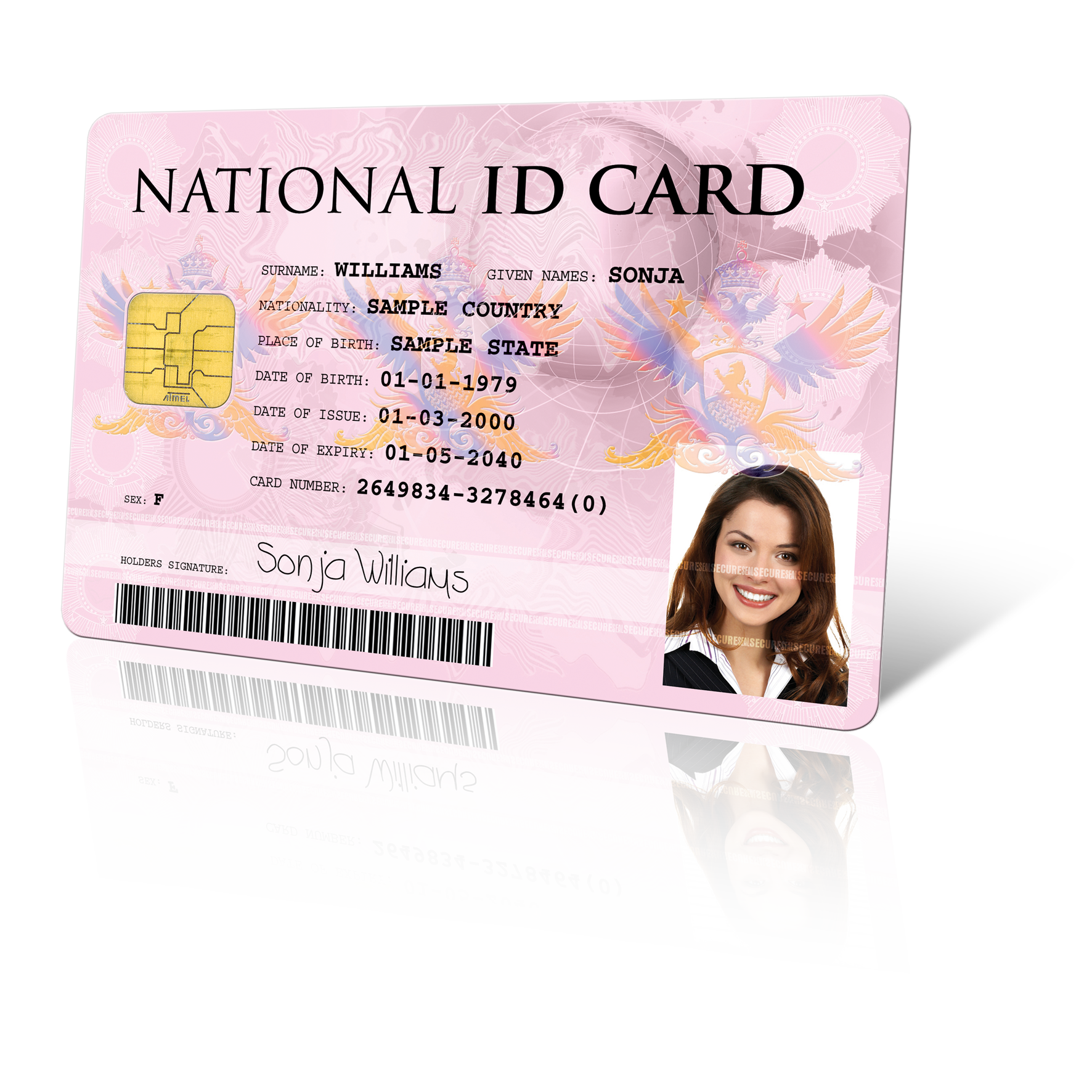 National identification card png. Prima id printer paclin