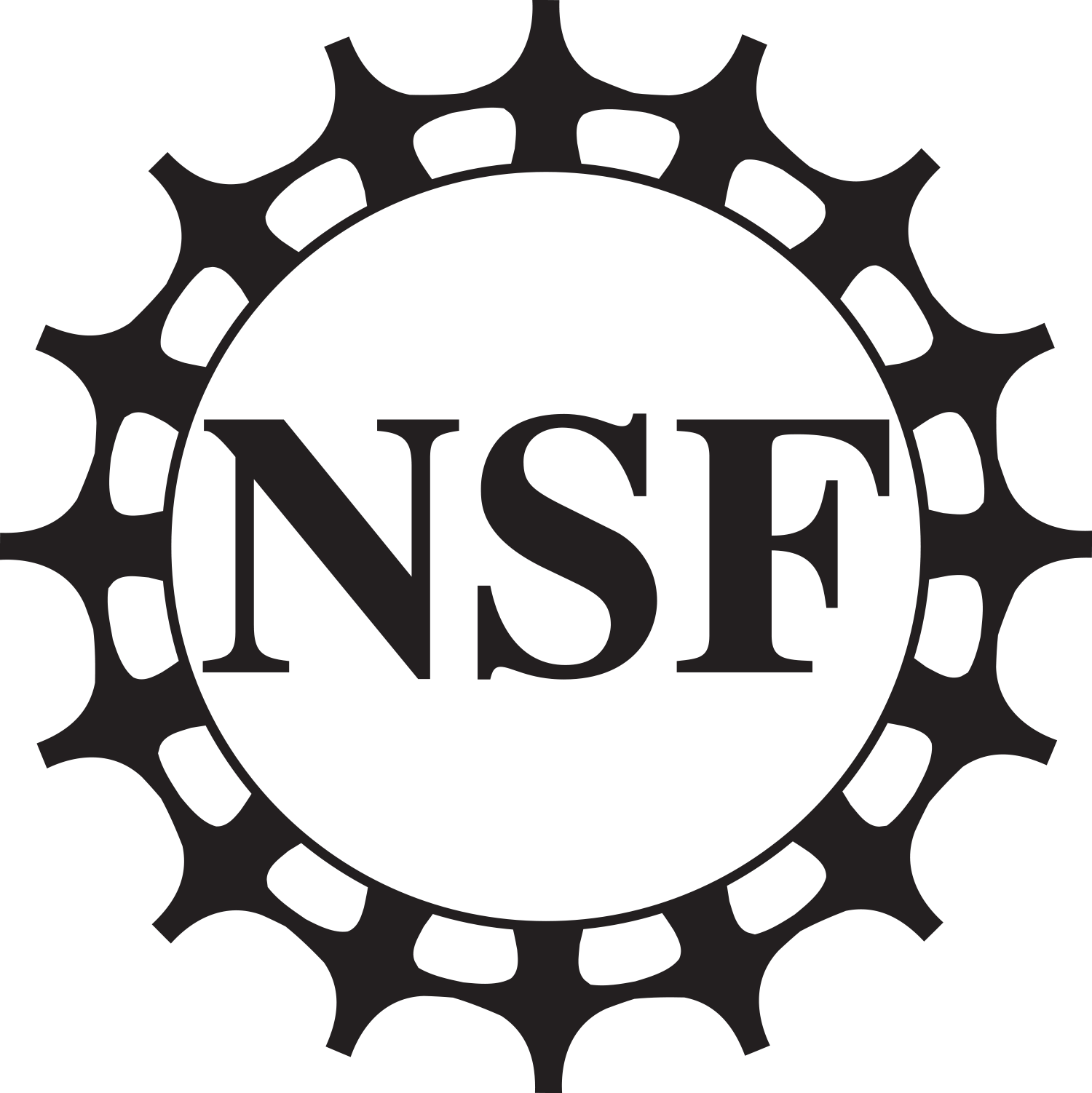 National science foundation logo png. Nsf all black bitmap