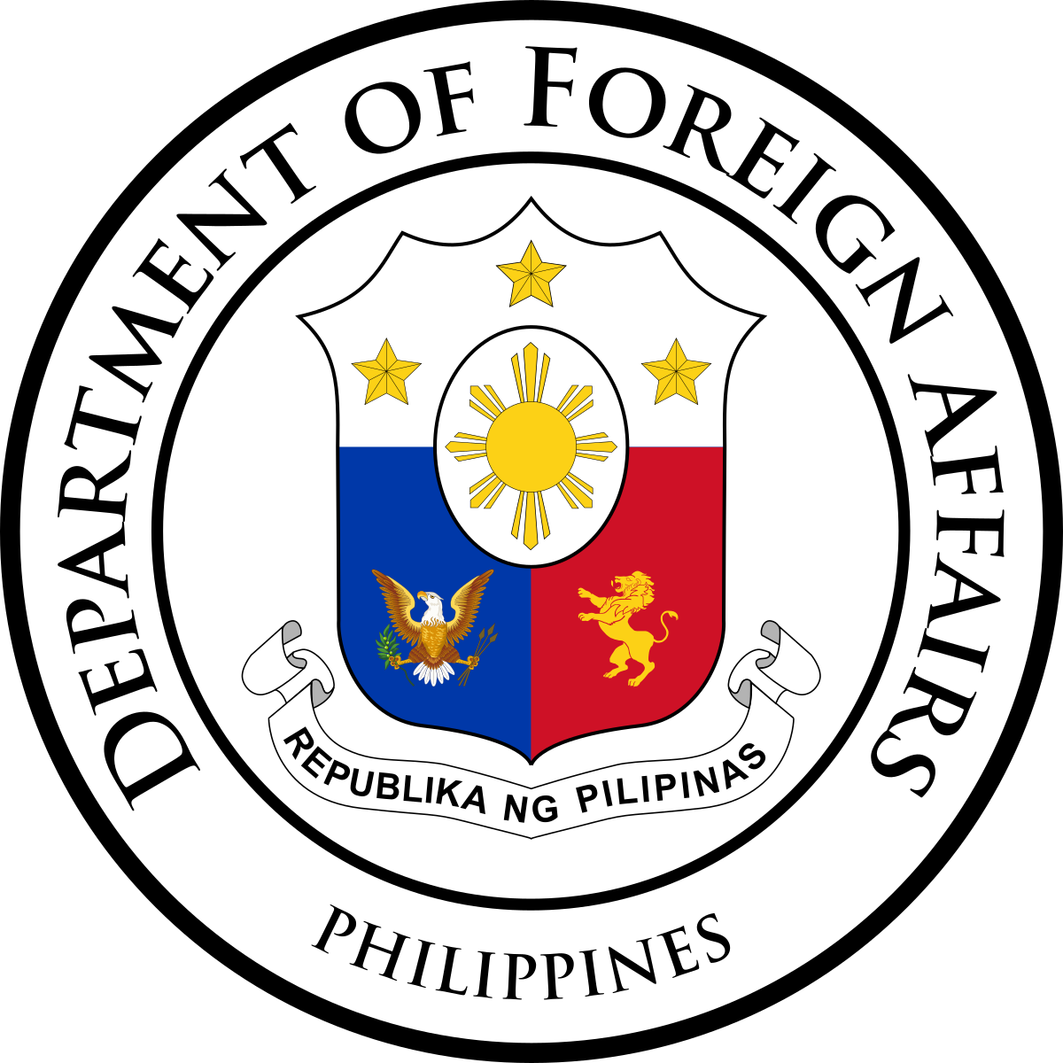 Philippines drawing usa. Department of foreign affairs