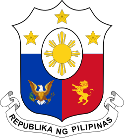 Filipino drawing bansa. Coat of arms the