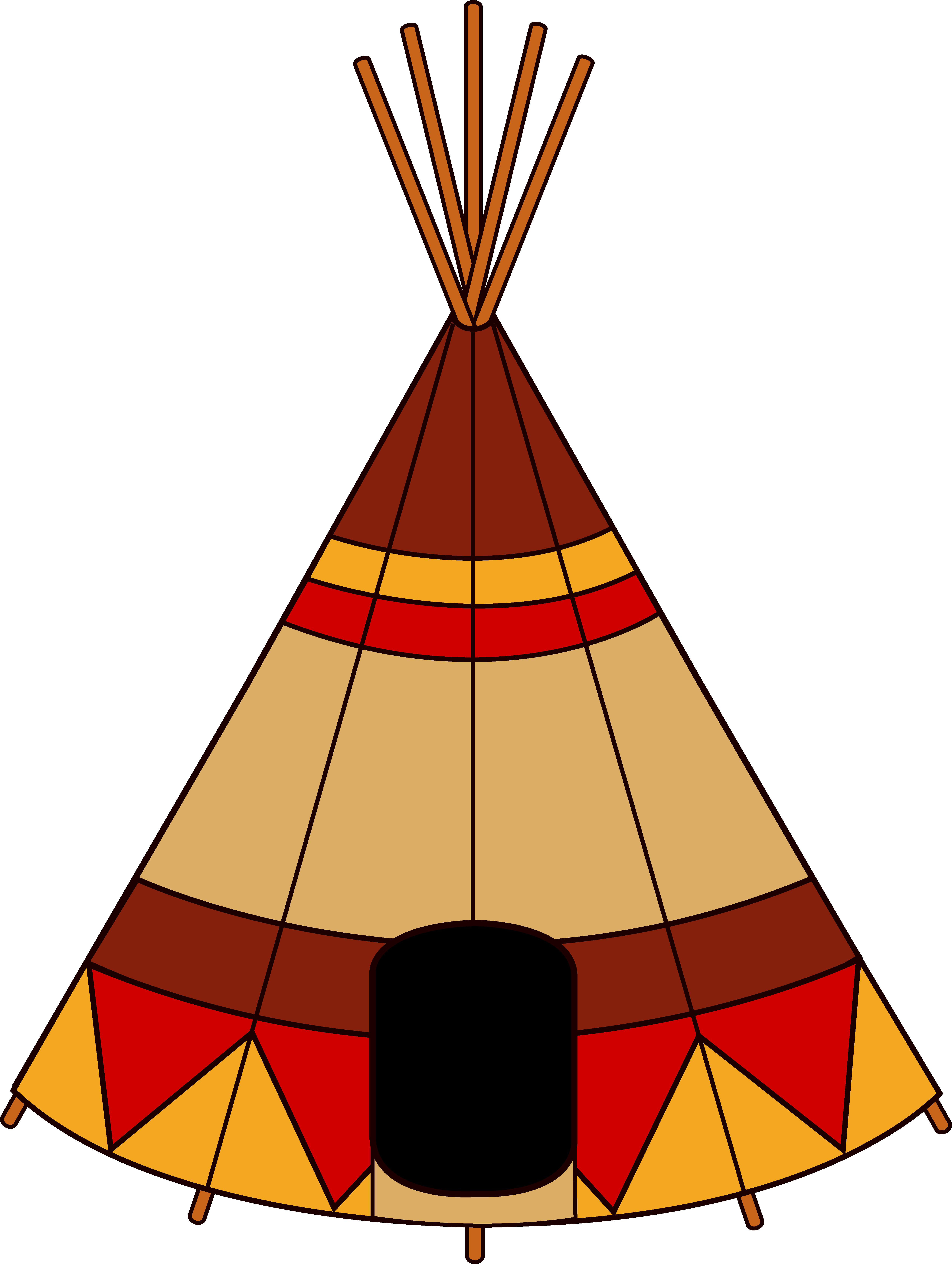 Tipi drawing tepee. Free native american clipart