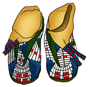 Native american clipart moccasin. Free moccasins clip art