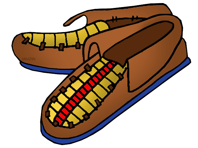 Native american clipart moccasin. Americans clip art by