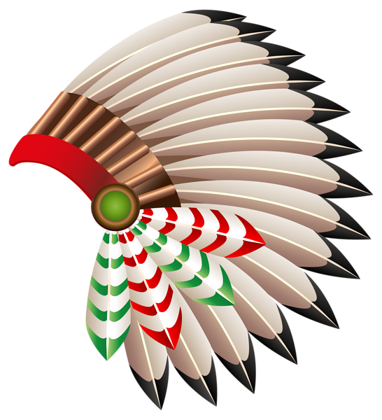 Native american feathers png. Chief hat transparent clip