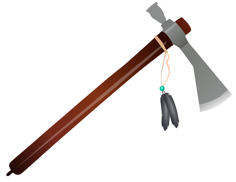 Native american spear png. Clipart tomahawk medium image