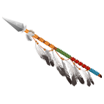 Native american spear png. Handheld indian thanksgiving pet