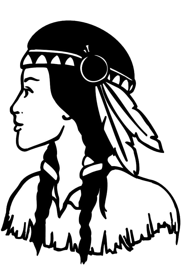 Gir drawing native american. Girl at getdrawings com