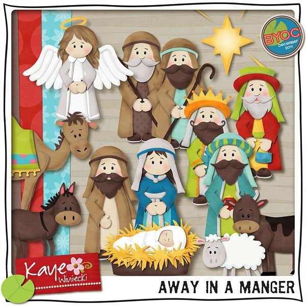 Nativity clipart away in manger. Best tarjeta images