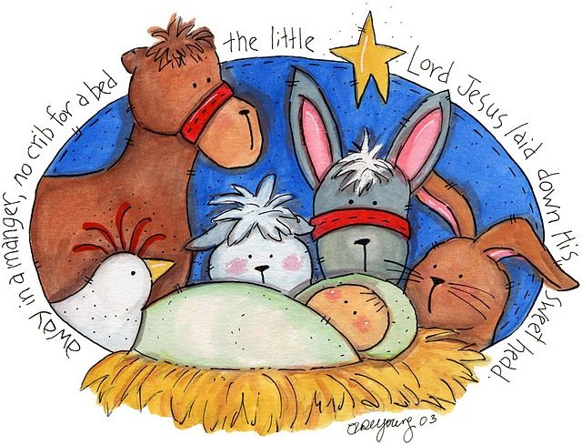 Nativity clipart away in manger. Pres pios pinterest holidays