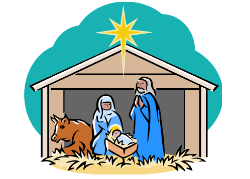 Nativity clipart christmas pageant. Scene clip art nd