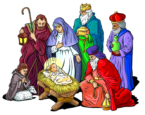 Nativity clipart december. Religious christmas free holiday