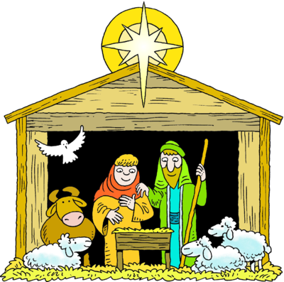 Nativity clipart manager scene. Silhouette manger at getdrawings