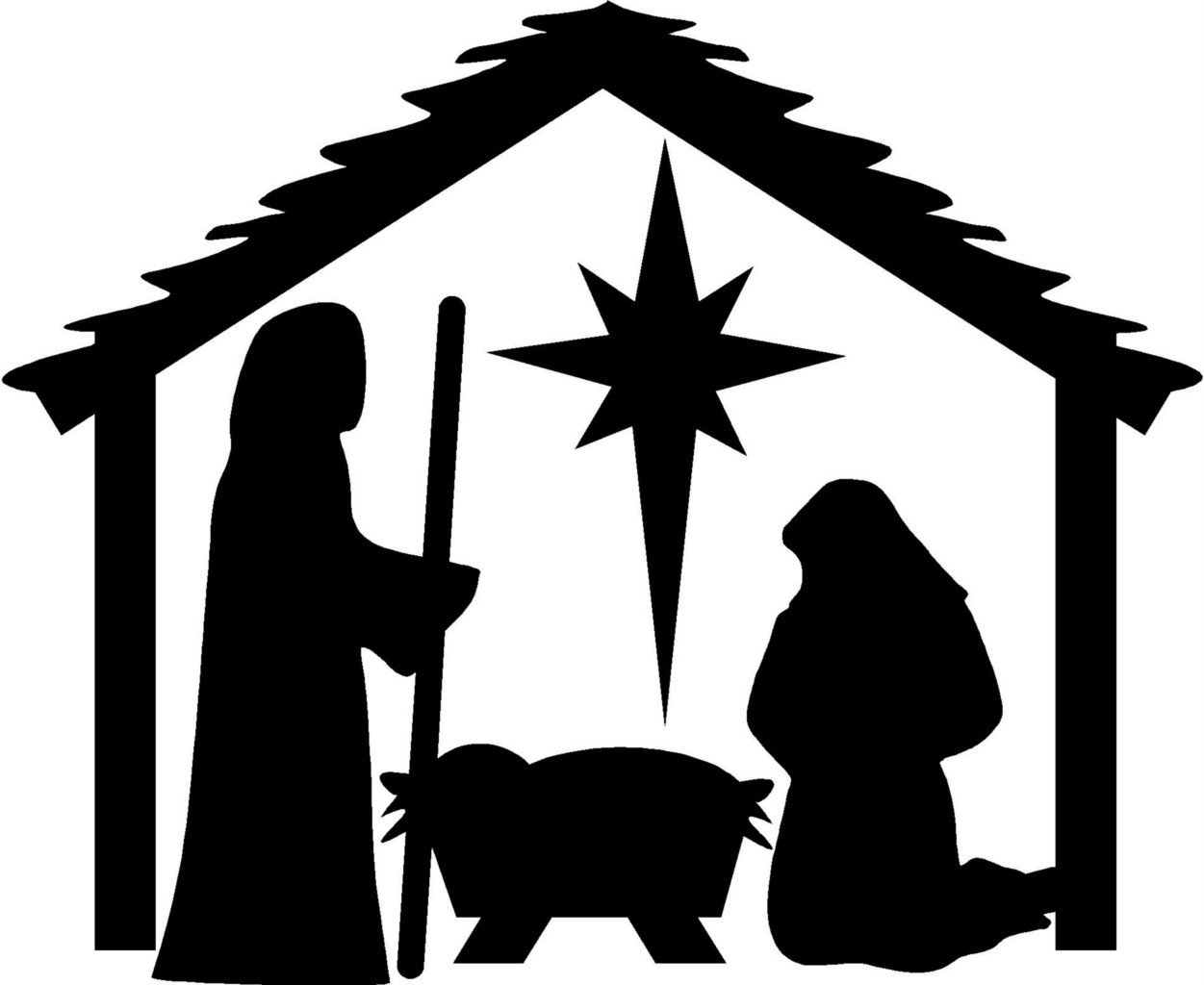 Nativity clipart manager scene. New manger collection digital