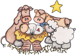 nativity clipart primitive