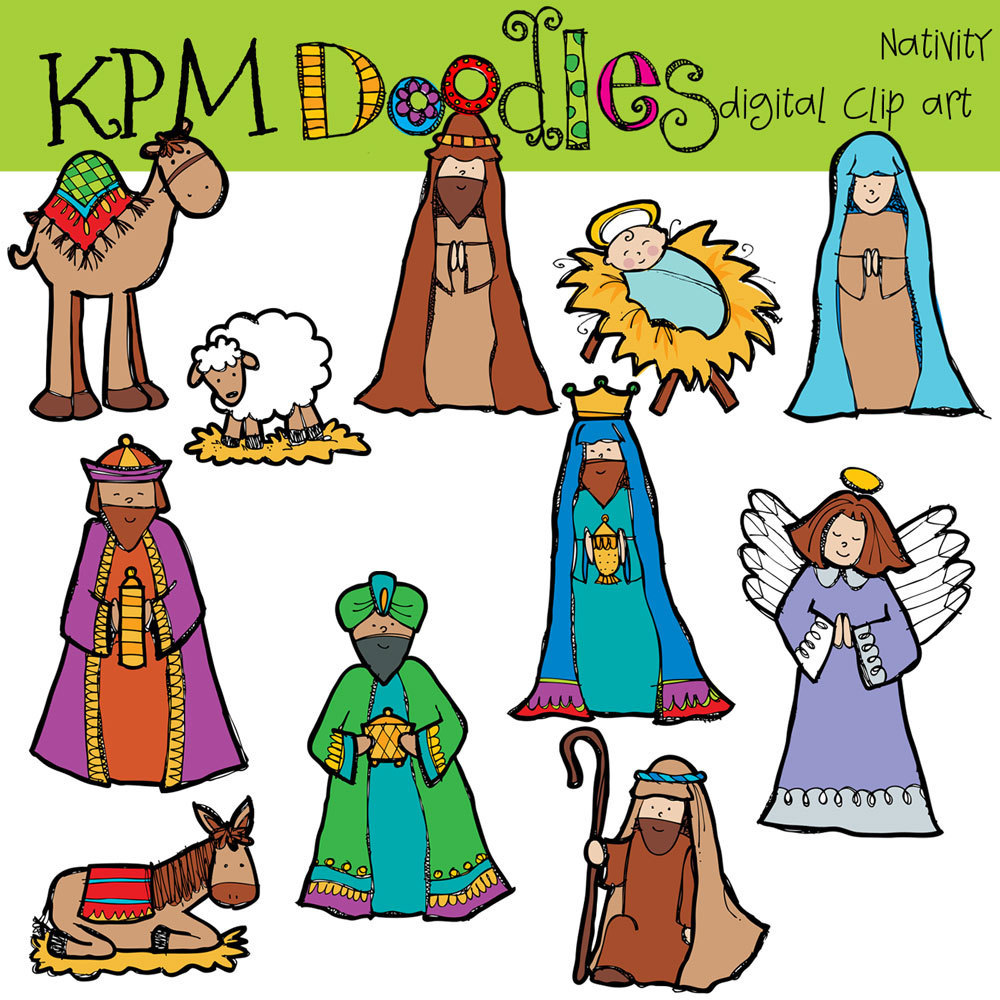 Nativity figures. Free cliparts download clip
